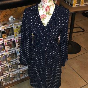 Xhilaration brand new navy polka dot long sleeve